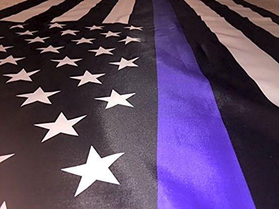 Thin Blue Line American Flag 3X5 Foot Honor Police 3 5 Brass Grommet Heavy Duty   Home & Garden, Yard, Garden & Outdoor Living, Garden Décor   eBay!