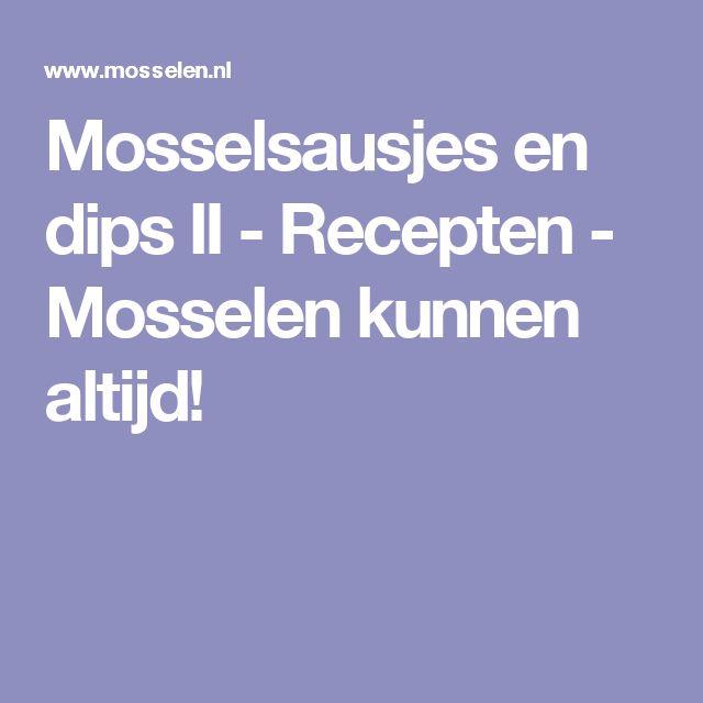 Mosselsausjes en dips II - Recepten - Mosselen kunnen altijd!