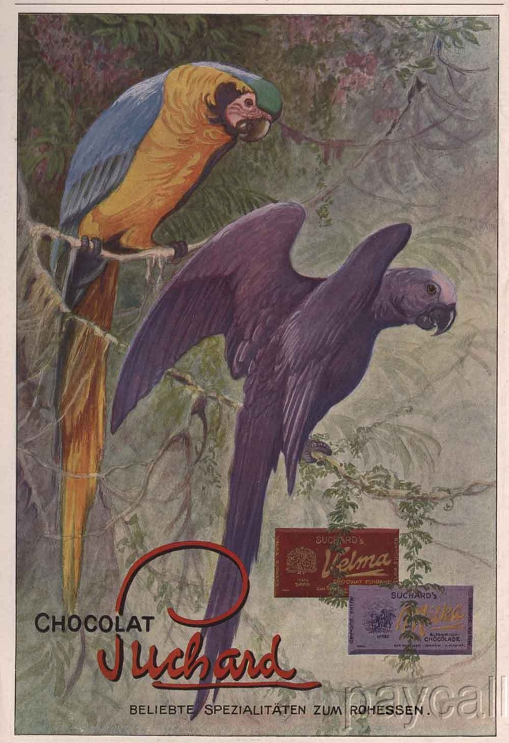 Love this old chocolate ad ... just 'Caws!