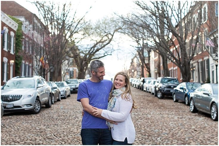 Prince Street. Old Town Alexandria Engagement Photography. Laura's Focus Photography.