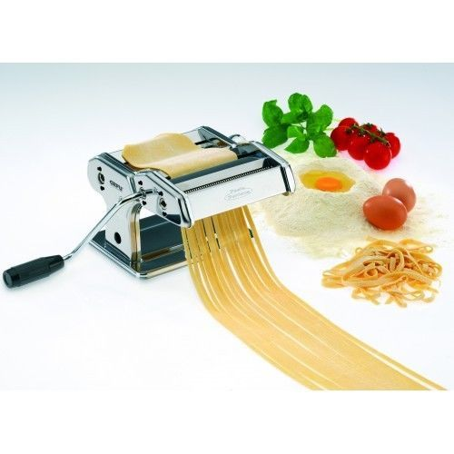 First class quality in retro design - ideal for making three types of pasta: lasagna, fettuccine, and spaghetti.  So easy to use, simply turn the handle. Dough won't stick to rollers - as they have a non-stick coating. #freeshipping