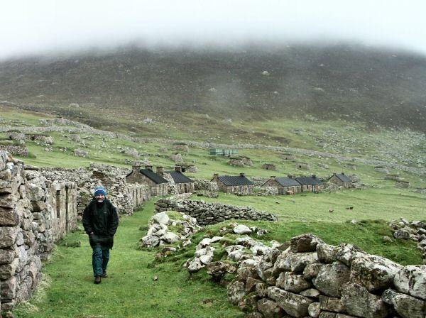 Abandoned village on the Island of Hirta, St Kilda Archipelago, Western Isles, Scotland