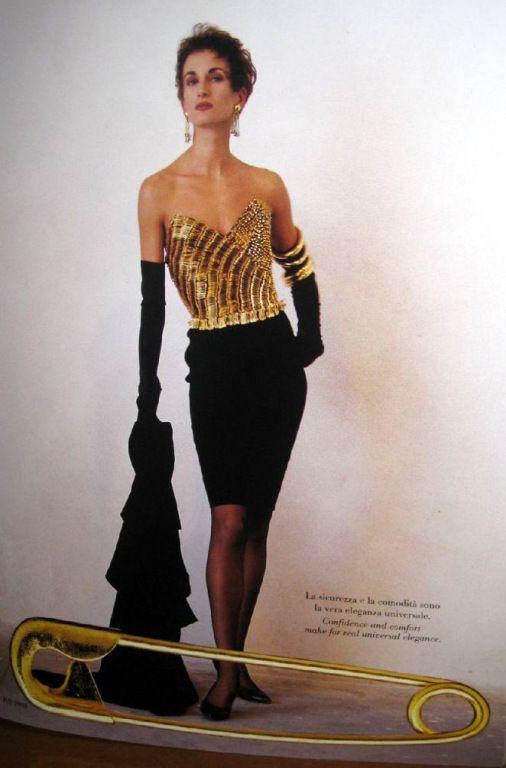 1980s Moschino Safety Pin Dress