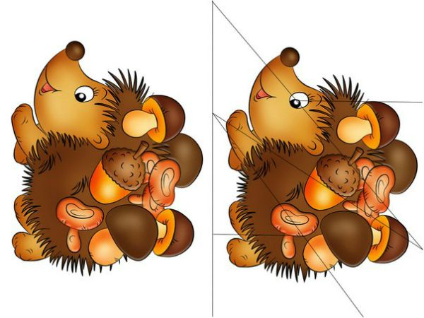 ježek - puzzle
