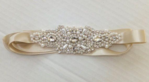 Wedding Belt BAILEY Bridal Sash Pearl Sash by BellaCescaBoutique, $45.00