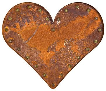 Retro Heart Light Rust / industrial lighting