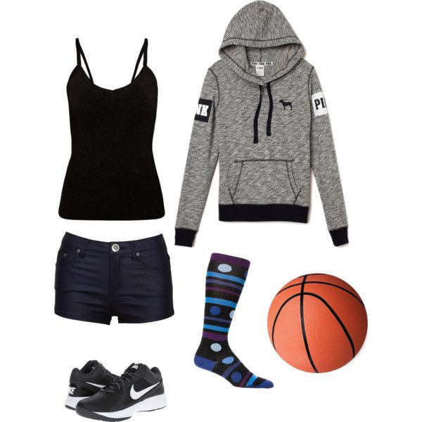 Girls basketball casual outfit for the day by Lyndsay R. on Polyvore featuring polyvore fashion ...