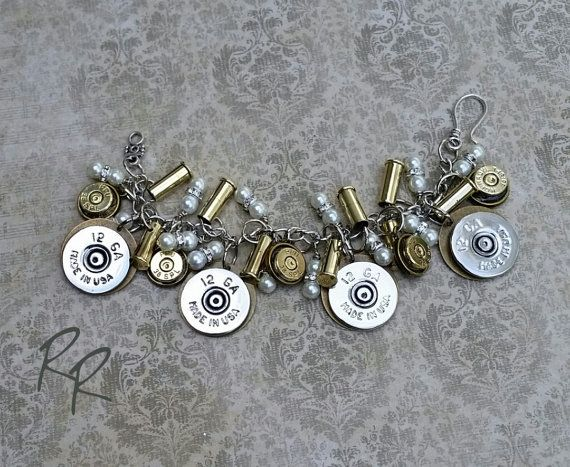 Ammo Bullet Bracelet by Repurposed Relics of Texas ammo jewelry, bullet jewelry, guns, hunting, western jewelry, rustic, upcycled, repurposed, bracelet, Etsy