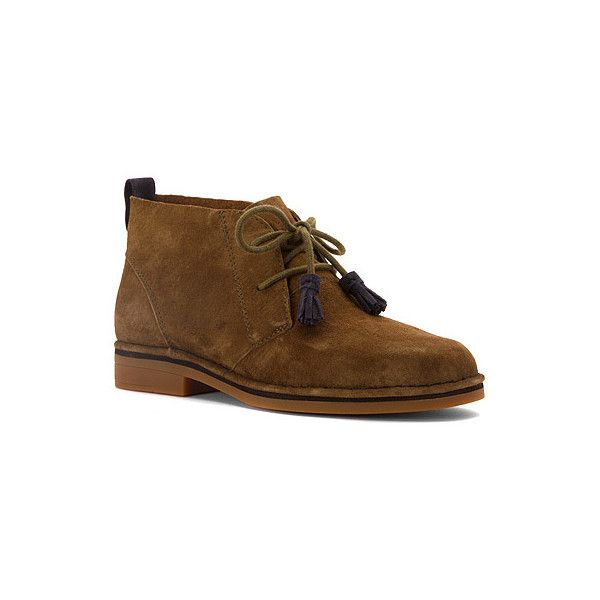 Hush Puppies Cyra Catelyn  Boots ($99) ❤ liked on Polyvore featuring shoes, boots, dark olive suede, men, suede moccasin boots, mocasin boots, hush puppies shoes, flexible shoes and hush puppies moccasins