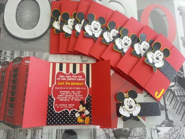 Best Mickey Mouse Birthday Invitations Ideas On Pinterest - Birthday invitation unique ideas