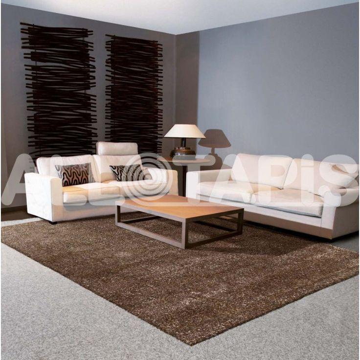 tapis tuft mcanique shaggy pour salon marron andrew httpwwwallotapis