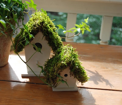 Transforming the $1 birdhouses into something pretty for Spring & Summer. A good project to do with my little guy!