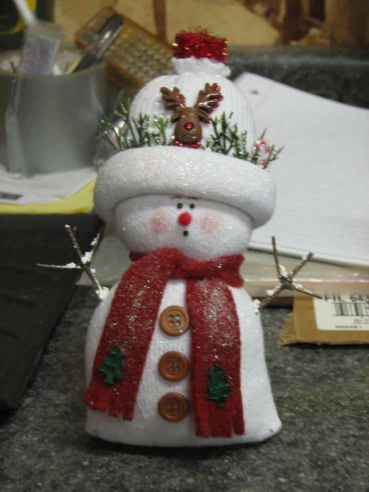 Best ideas about sock snowman on pinterest xmas