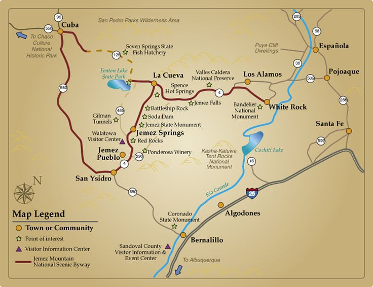 Map • Find your way on the Jemez Mountain Trail - A New Mexico Scenic Byway