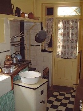 Kitchen, reconstruction for Channel 4 series 'The 1940's House'.