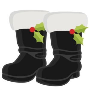 Santa's Boots SVG cutting files for scrapbooking cute cut files christmas svg cut files free svgs