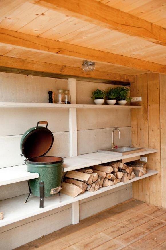dreamy outdoor cooking area