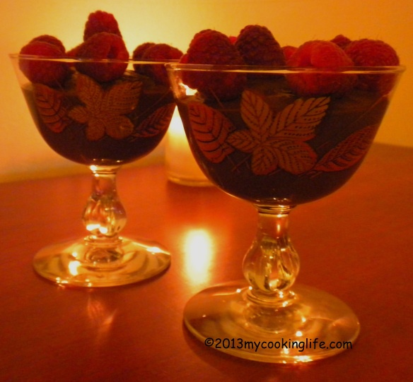 A candlelit date with - sigh - chocolate! How romantical can you get?