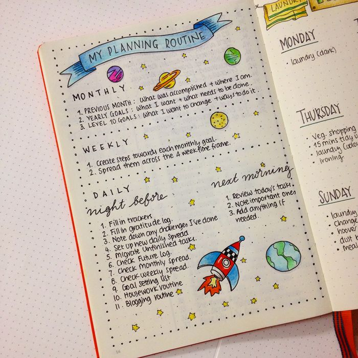 Sharing with you the pages and spreads that I've created in my second bullet journal until now. - www.christina77star.co.uk