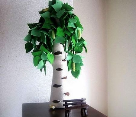 Copaci handmade din pasla 5