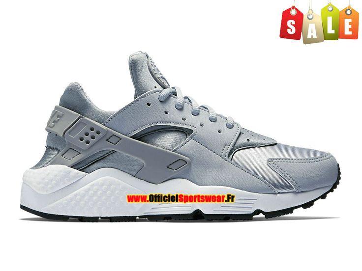 Nike Air Huarache GS - Nike Sportswear Pas Cher Chaussure Pour Femme/Garcon  Wolf Gris