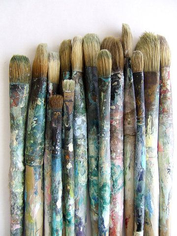 old used brushes