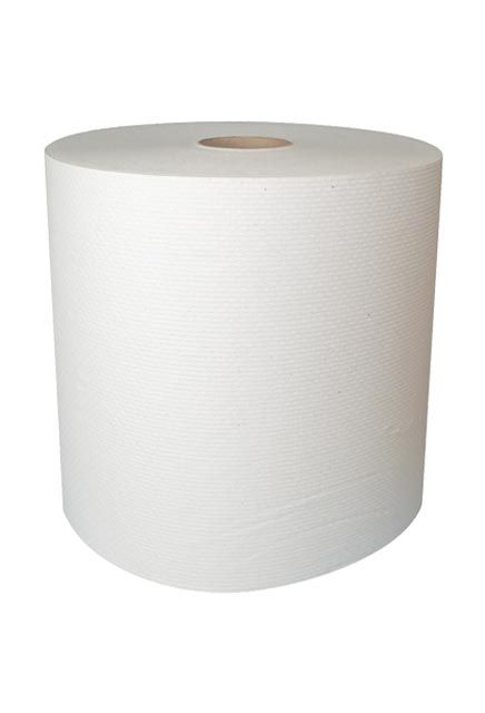 Decor, 800' White roll paper towell: 6 rolls of 800', Paper towell