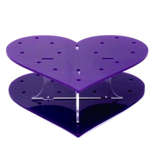 Heart Shaped Purple Acrylic Cake Pop Stand  32 by Sendmemirrors