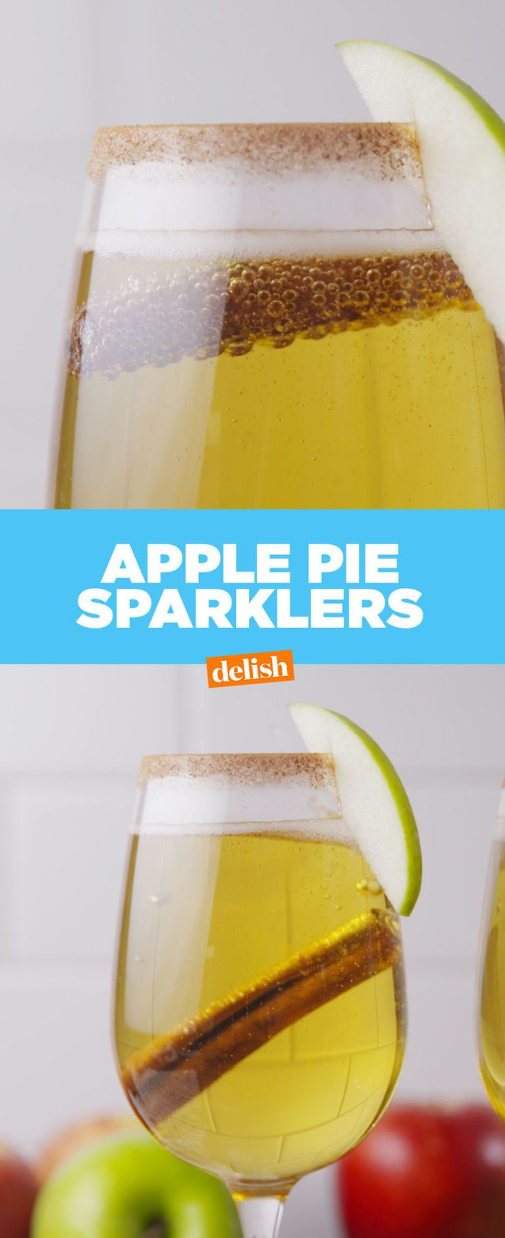 Apple Pie Sparklers Are The Best Way To Toast To Fall - Delish.com