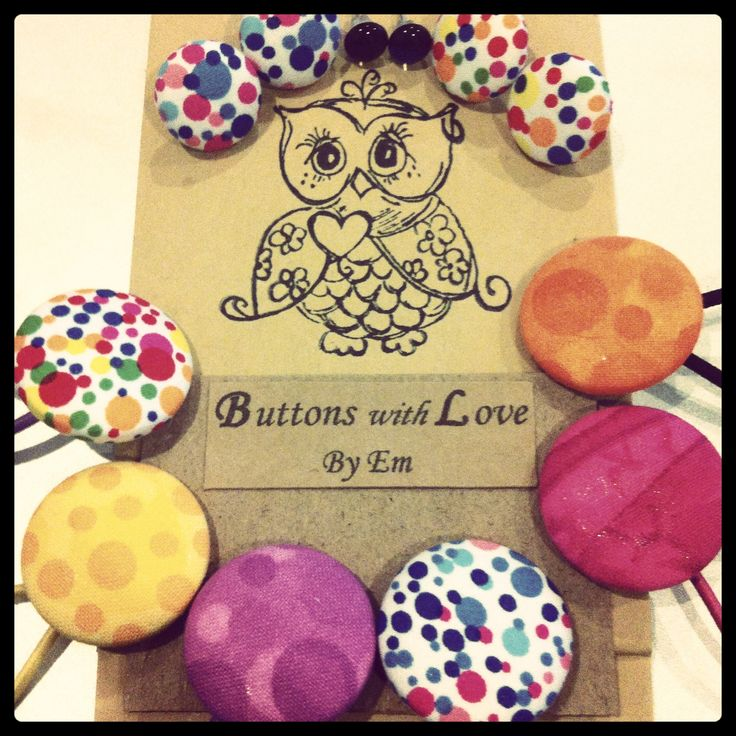 Button earrings and hair ties