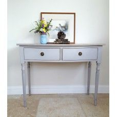 Vintage Bow Front Console Table