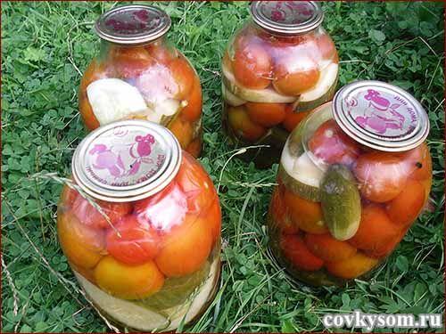 Консервируем без уксуса помидоры, огурцы, кабачки. Подробный рецепт.