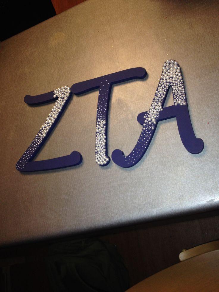 ZTA falling pearl letters!