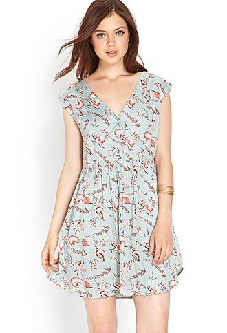 Sea Life Woven Dress | LOVE21 - 2000073511