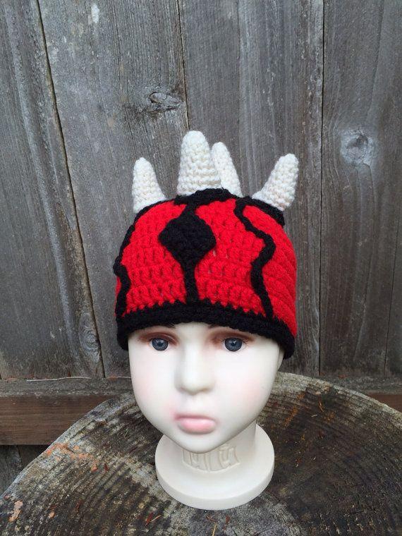 Darth Maul. Star Wars. Halloween crochet hat.