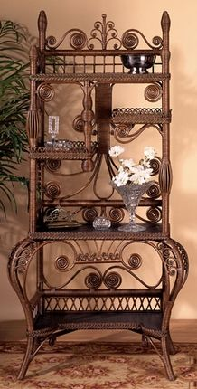 Fancy Wicker Cabinet ~ This stylish, breathtakingly beautiful Victorian cabinet deserves a place of honor and distinction in your home.