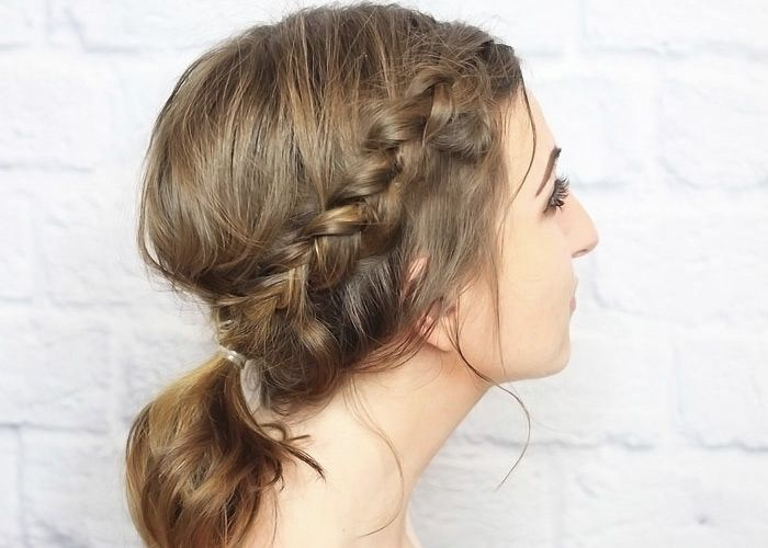 """When I created this hair tutorial last week, I really should have called it """"one braid, two ways"""", because this look totally uses the same technique, with just one additional step. I love the look of a messy hairdo, and this one is great for anything, really. You can make it as neat or"""