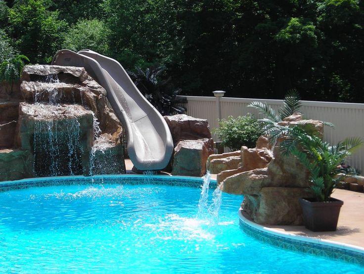 Swimming Pool Slide Ideas: 25+ Best Ideas About Swimming Pool Slides On Pinterest
