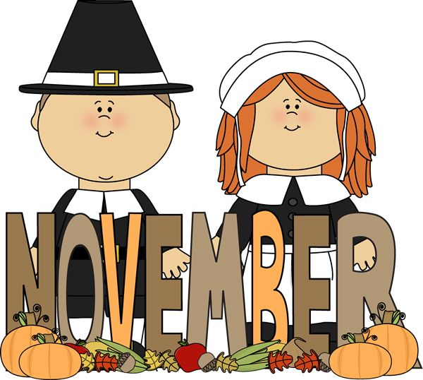Free Month Clip Art | Month of November Pilgrims Clip Art ...