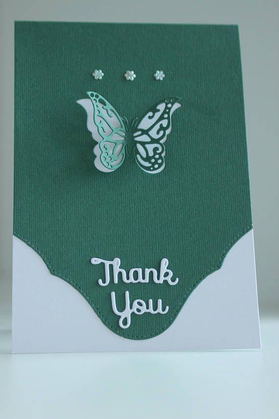 3D Thank You Card Handmade Card Unique Card Unique Thank