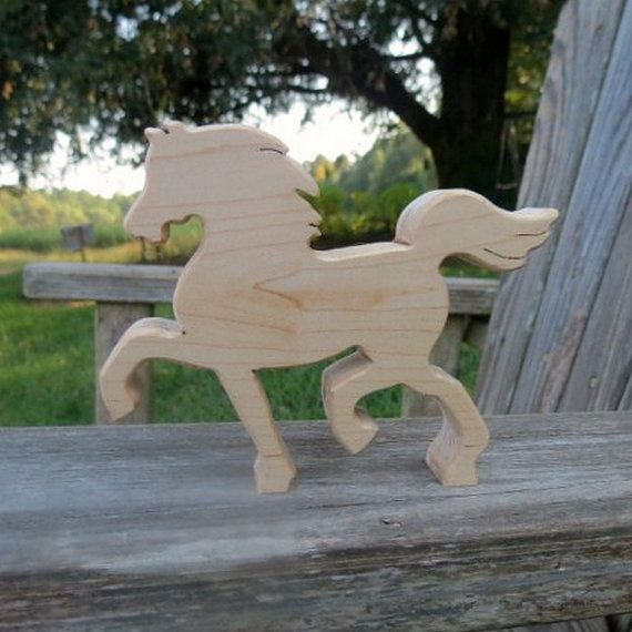 natural organic wooden waldorf toy horse- Finally a Saddlebred type horse for the boys!