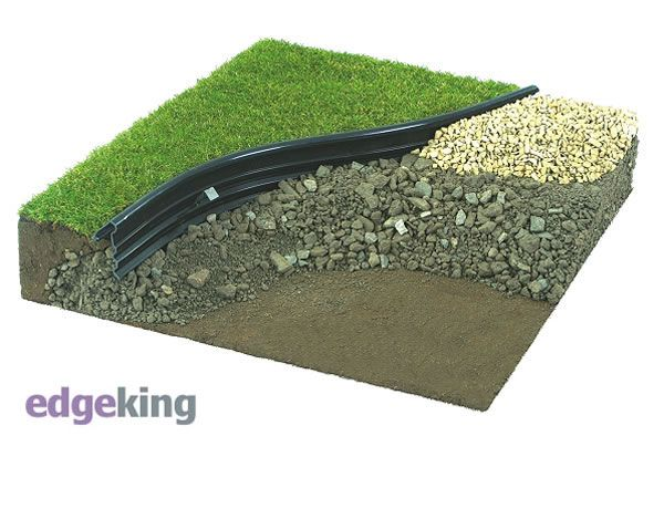 Attractive Edging The Lawn Between Lawn And Broken Slate
