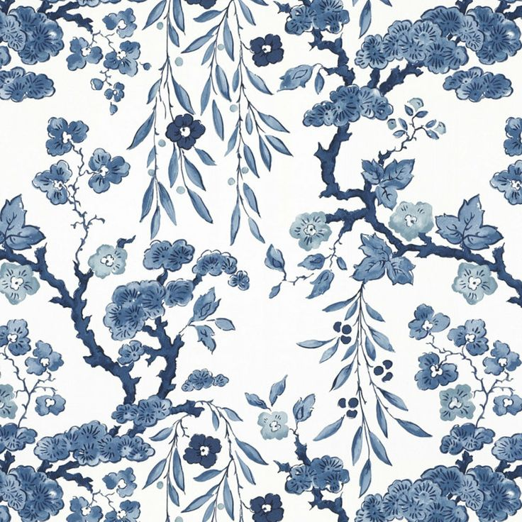 Tabley House Floral – Porcelain - Florals - Wallcovering - Products - Ralph Lauren Home - RalphLaurenHome.com