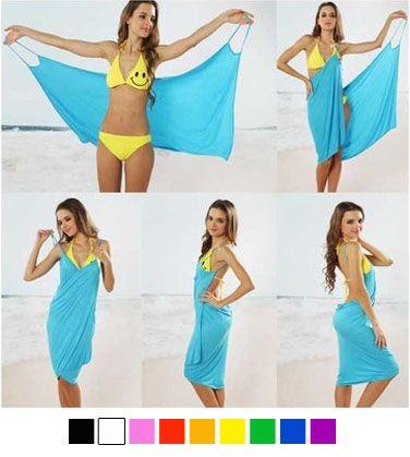 Bikini Wrap Dress - 9 Colors Available  - $15.00
