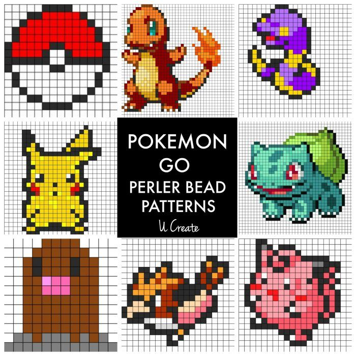 Pokemon Go Perler Bead Patterns