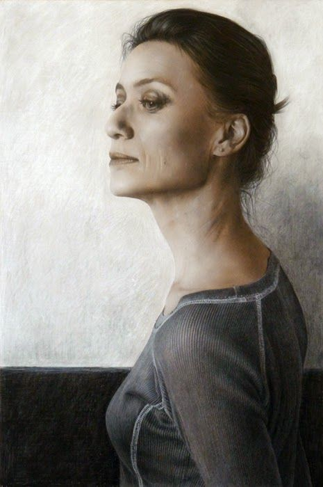 Μπαλαρίνα (2012)  Κάρβουνο και λευκό μολύβι