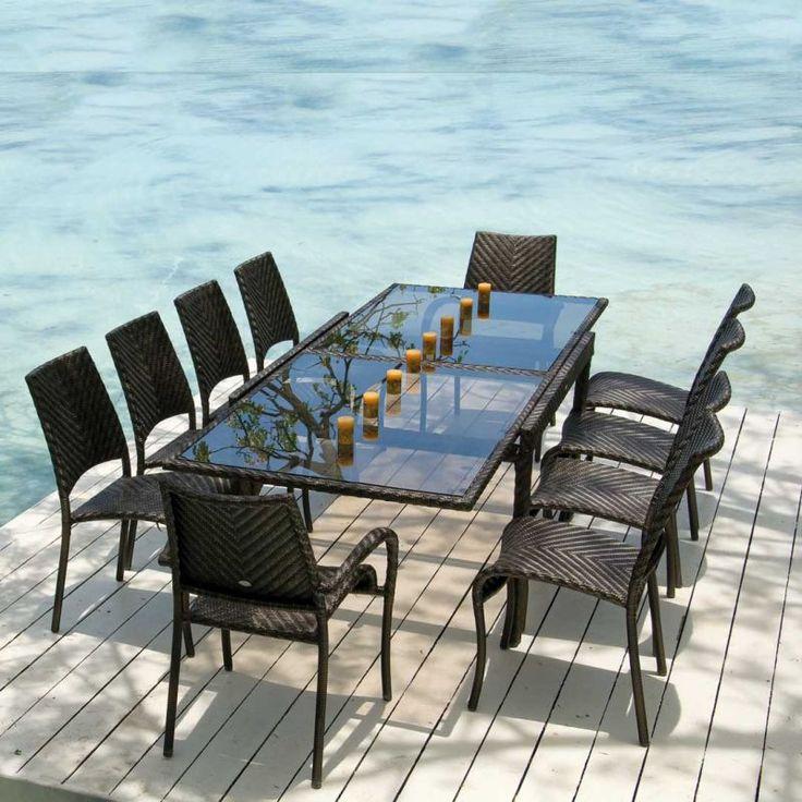 Ocean Fiji Extending Table with 10 Stacking Armchairs. 78 best Garden Furniture images on Pinterest   Garden furniture