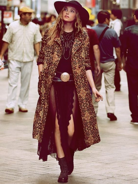 We dig this #boho #rocker look! #fashion #style #outfit