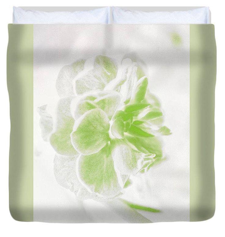 Unique Floral Duvet Cover,White and Green Duvet,Flower Designer Bedding,Bohemian Duvet,Boho Duvet,Comforter Cover,King Size Duvet Cover by HeatherJoyceMorrill on Etsy