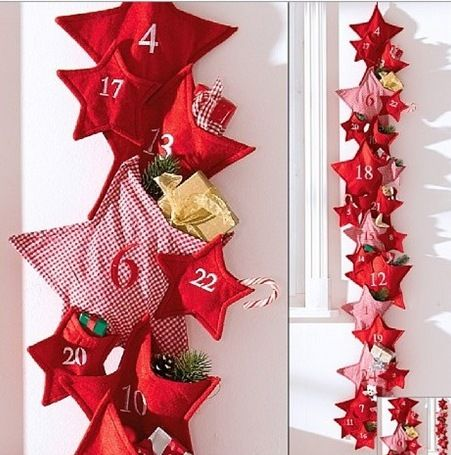 christmas-advent-calendar-ideas-days-till-christmas-craft-do-it-yourself-felt-stars-bags-gifts-in-strung-hanging-door-easy-kids-carft-diy-fun-cute-shabby-chic-decoration.jpg (451×455)